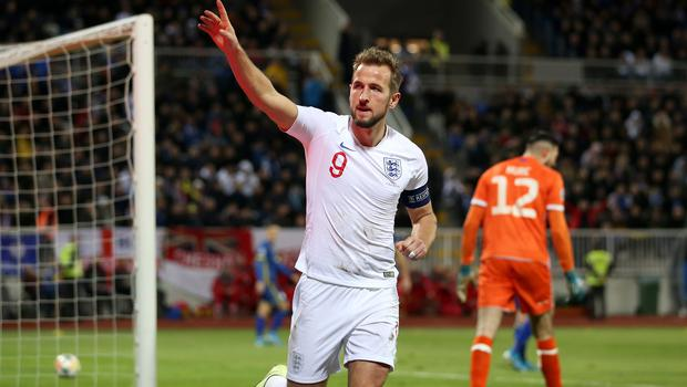 Harry Kane was among the scorers in a 4-0 win in Kosovo (Steven Paston/PA)