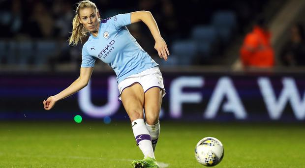 Manchester City's England defender Gemma Bonner believes the Lionesses have to deal with the pressure of their recent poor form. (Adam Rickett/PA).