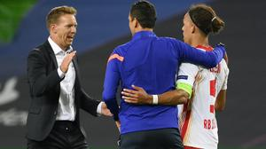 RB Leipzig boss Julian Nagelsmann saw his side reach the semi-finals of the Champions League on Thursday night (Lluis Gene/Pool Photo via AP)