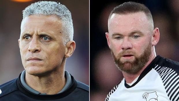 Keith Curle hopes Wayne Rooney misses out when Derby visit Northampton (PA)