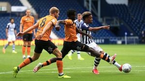 West Brom's Grady Diangana wraps up their 4-2 win over Hull (Mike Egerton/PA)