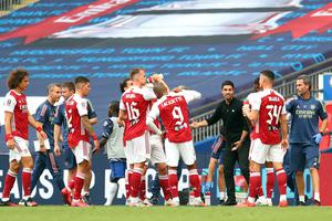 Arsenal rallied following the drinks break in the first half (Catherine Ivill/PA)