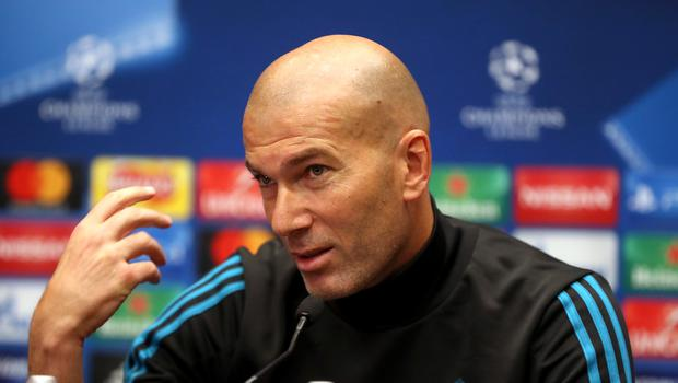 Zinedine Zidane has one eye on next weekend's Champions League final against Liverpool