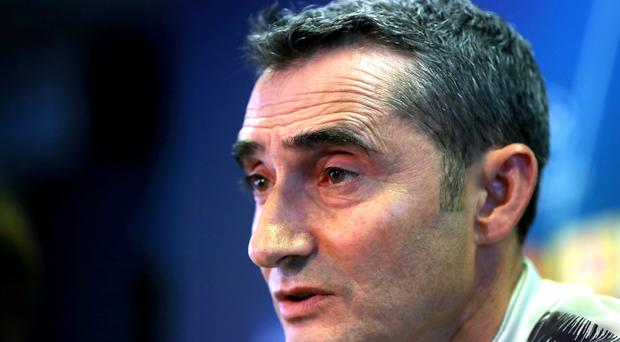 Barcelona manager Ernesto Valverde has seen his side suffer a sluggish start to their title defence (Nick Potts/PA).