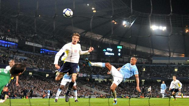 Peter Crouch gave Tottenham their first taste of Champions League football in 2010 (Martin Rickett/PA)