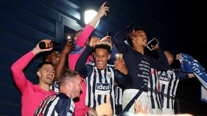 West Brom players celebrate winning promotion from the Sky Bet Championship (Nick Potts/PA)