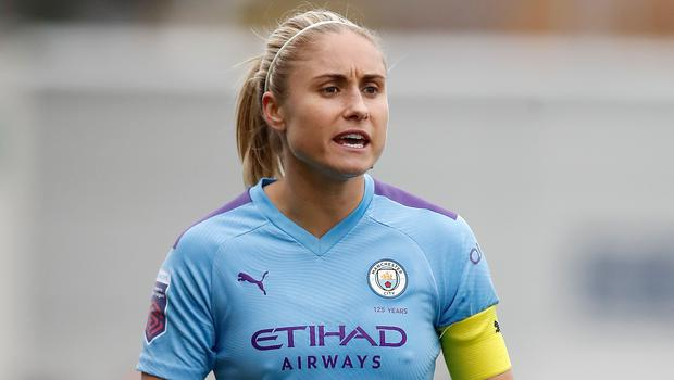 Manchester City Women captain Steph Houghton has extended her stay at the club (Martin Rickett/PA)
