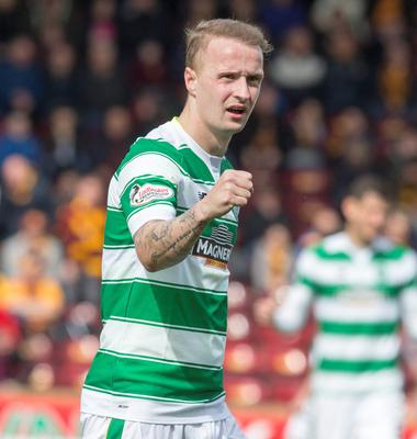 At the double: Leigh Griffiths bagged a brace against Motherwell