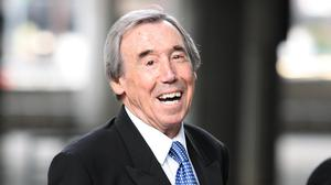 Gordon Banks offered words of goalkeeping wisdom to an eight-year-old boy. (Carl Court/PA)