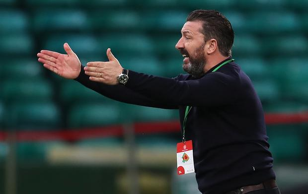 Derek McInnes had watched his Aberdeen side struggle in front of goal (Andrew Milligan/PA)