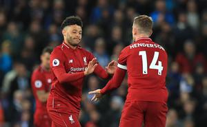 Liverpool duo Jordan Henderson and Alex Oxlade-Chamberlain are among the players to appear in the video (Peter Byrne/PA)