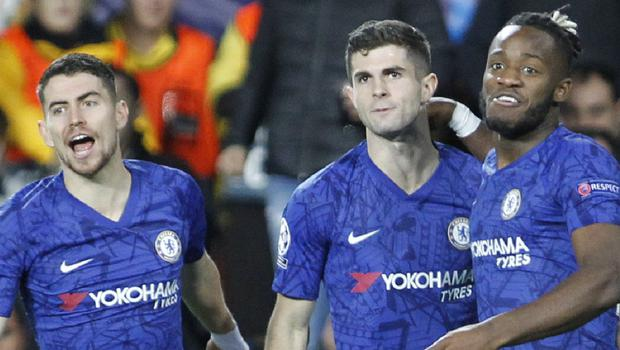 Christian Pulisic (centre) put Chelsea 2-1 up (AP Photo/Alberto Saiz)