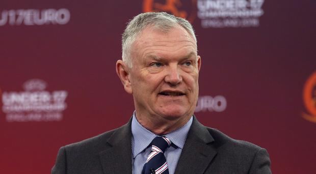 Greg Clarke will present the findings of a study into dementia at the FIFA Council in Shanghai (Tim Goode/PA)