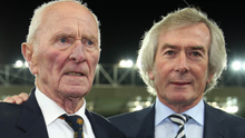 Two legends: Harry Gregg and Pat Jennings at Windsor Park