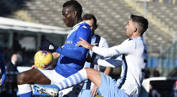Mario Balotelli was targeted by offensive chanting (Gianluca Checchi/AP)