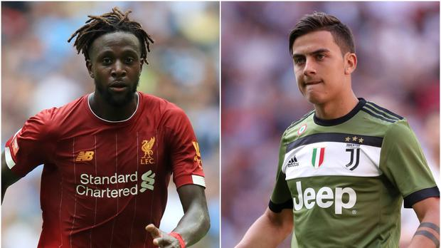 Liverpool's Divock Origi and Juventus forward Paolo Dybala feature in today's transfer gossip (Adam Davy/Andrew Matthews/PA)