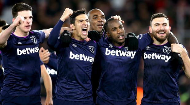 West Ham produced a vital win for their manager Manuel Pellegrini at Southampton (Steven Paston/PA)