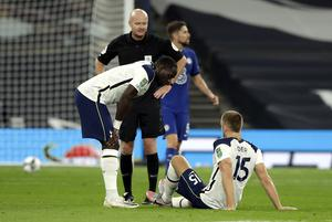The workload takes its toll on Eric Dier, right (Matt Dunham/PA)