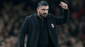 Gennaro Gattuso will not use fatigue and injuries as excuses if AC Milan lose (Nigel French/PA)