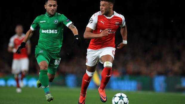 Wanderson, left, played against England's Oxlade-Chamberlain when Ludogorets faced Arsenal in 2016 (Mike Egerton/PA)