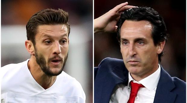 Adam Lallana and Unai Emery feature in Monday's headlines (Nick Potts/Steven Paston/PA)