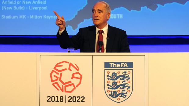 Lord Mawhinney was also part of England's 2018 World Cup bid.