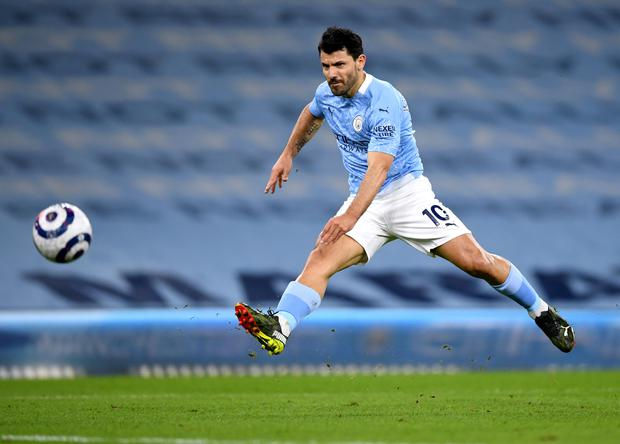 Sergio Aguero: Would a surprise move to Chelsea be out of the question? (Gareth Copley/PA)