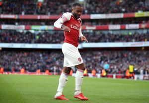 Lacazette was on target once more as Everton were beaten at the Emirates Stadium. (Nick Potts/PA)