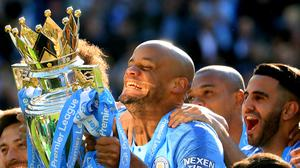 Vincent Kompany lifted the Premier League trophy four times with Manchester City (Gareth Fuller/PA)