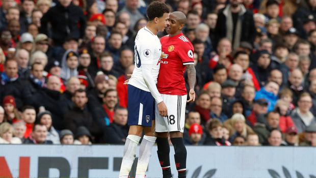 Young and England team-mate Dele Alli had a heated exchange at Old Trafford in October (Martin Rickett/PA).