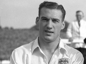 Nat Lofthouse scored two of his 30 England goals in the World Cup draw with Belgium. (PA Archive)