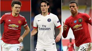 Harry Maguire, Edinson Cavani and Mason Greenwood are all missing for Manchester United Martin Rickett/Adam Davy/Peter Powell/NMC Pool/PA)