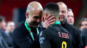 Guardiola lauded his squad after lifting another trophy (Mike Egerton/PA)