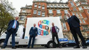Steve Curwood, right, is part of the Save Our Clubs campaign (Kirsty O'Connor/PA)