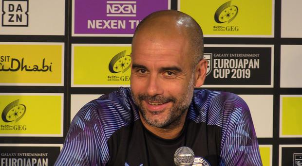Pep Guardiola was happy with Manchester City's result on Saturday (Andy Hampson/PA)