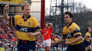 Dennis Bergkamp was named PFA Players' Player of the Year in 1998 after helping Arsenal to the title (John Giles/PA)