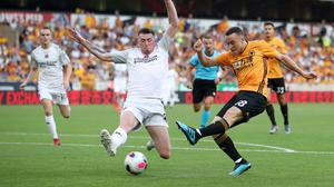 Wolves' Diogo Jota scored the club's opening goal against Crusaders last week. (Nick Potts/PA)
