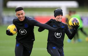 Mason Greenwood (left) and Phil Foden had made their England debuts on Saturday (Mike Egerton/PA)