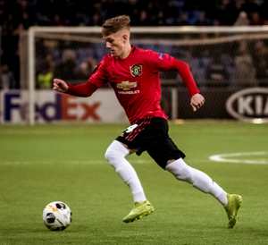 First steps: Ethan Galbraith during his United debut against Astana in the Europa League last November