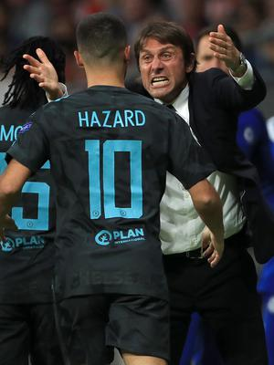 Eden Hazard says the speculation surrounding Antonio Conte's future as Chelsea head coach has not affected the players