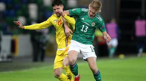 Ali McCann, right, has impressed in his first two appearances for Northern Ireland (Niall Carson/PA)
