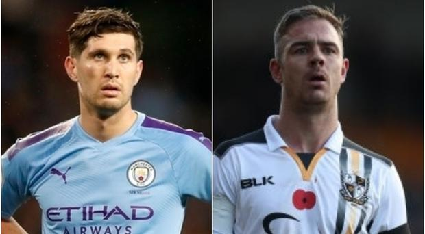 Manchester City's John Stones may have a point to prove to Port Vale's Tom Pope (PA)
