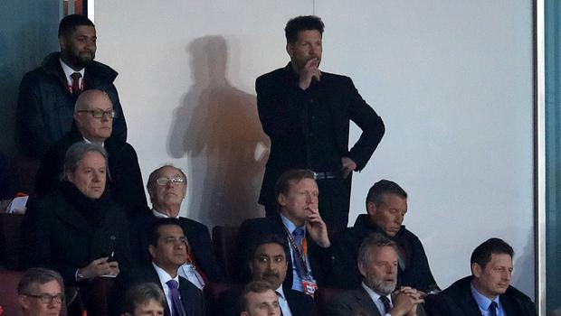 Diego Simeone was sent off at the Emirates last week