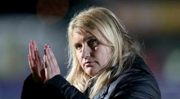 Emma Hayes welcomed an Auschwitz survivor to speak to her Chelsea team (Bradley Collyer/PA)
