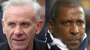 Peter Reid and Viv Anderson are among a group calling for more research into the link between heading and dementia (David Davies/Nick Potts/PA)