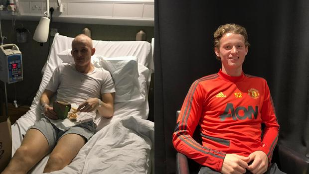 Max Taylor, who underwent an intense nine-week course of chemotherapy, will be part of Manchester United's Europa League squad tomorrow night. (Man United/PA)