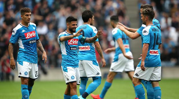 Napoli are Liverpool's opponents in the Champions League on Tuesday (PA)