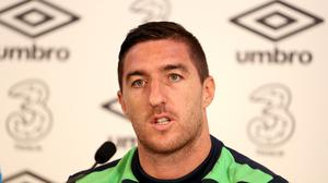 Defender Stephen Ward is a doubt for the Republic of Ireland's Euro 2016 clash with France on Sunday