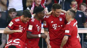 Bayern Munich moved four points clear at the top of the Bundesliga (Matthias Schrader/AP)