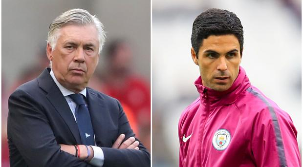 Carlo Ancelotti and Mikel Arteta have been linked with managerial jobs in the Premier League (Niall Carson/Adam Davy/PA)